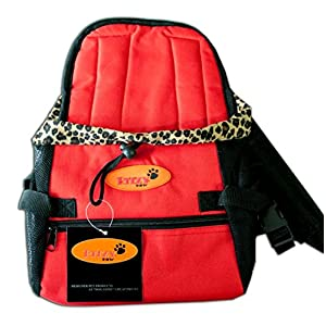 Betty-pow-Dog-Carrier-Front-Pack-for-Dogs-Comfortable-Front-Carrier-Medium-Red