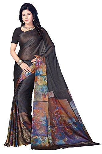Rani Saahiba Satin Georgette Digital Print Saree ( SKR3777_Black )