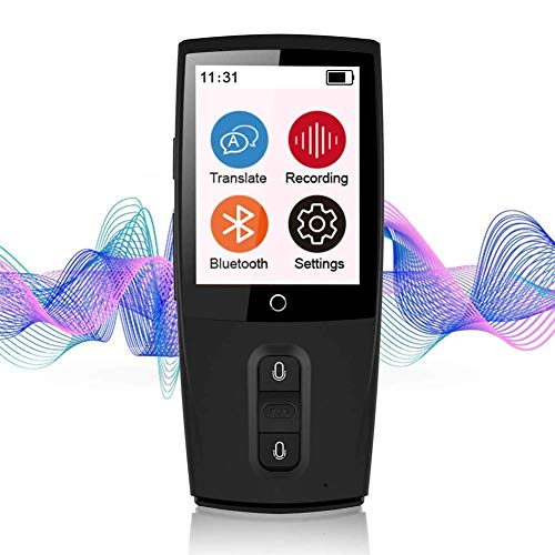 Tragbarer, intelligenter Übersetzer,2,4-Zoll-Touchscreen 45 Sprachen Genaue Übersetzung, intelligenter Echtzeit-Live-Chat, Instant Chat, Geeignet für geschäftliche Telefonkonferenzen (Live Chat)