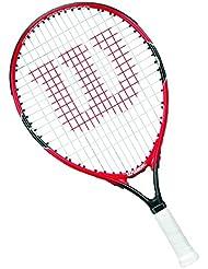 Wilson Roger Federer - Raqueta de tenis para niños, color rojo / gris, 26 pulgadas