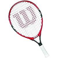 Wilson Raqueta de tenis para niños, Medida 9-10 años, Para juegos en todas las áreas, Roger Federer 25, Rojo/Gris