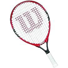 Wilson Raqueta de tenis para niños, Para jugar en todas las áreas, Para principiantes, Roger Federer 25, Medida 9-12 años, Rojo/Gris, WRT218700