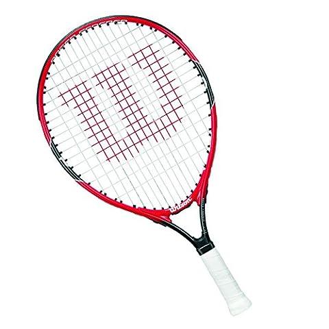 Wilson Raquette de Tennis Enfants, Jeu en Toutes Zones, Débutants, Roger Federer 21, Taille 5-6 ans, Rouge/Gris, WRT218500 - Wilson Racket Sports