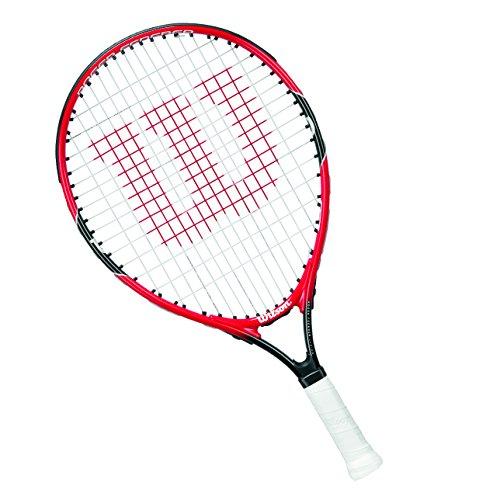 Wilson Tennis Racket for Kids, Ages 9-10, All Courter, Roger Federer 25,  Red/Grey