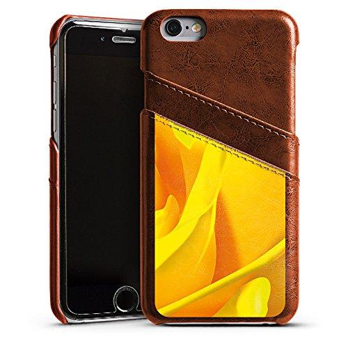 Apple iPhone 4 Housse Étui Silicone Coque Protection Rose Fleur Jaune Étui en cuir marron