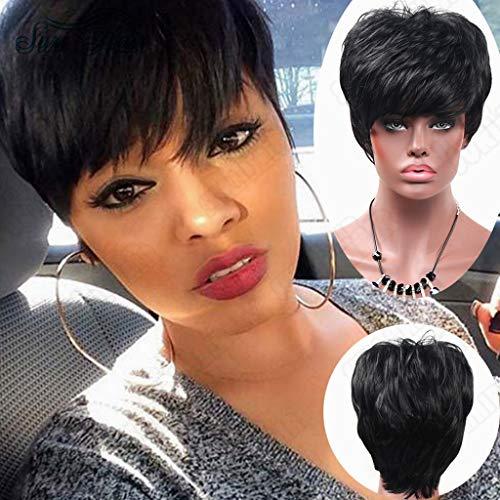 Sexy Beste Geschenke für Frauen !!! Beisoug damenmode perücke schwarz synthetische flauschige haare kurze perücken haarwelle perücke ()