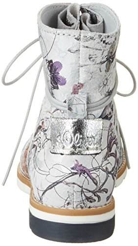 s.Oliver Damen 25203 Chukka Boots Silber (SILVER FLOWER 946)