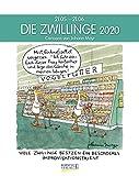 Zwillinge 2020: Sternzeichenkalender-Cartoonkalender als Wandkalender im Format 19 x 24 cm. -
