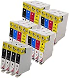 Toner Kingdom 20 Pack (4 Set + 4B) Compatible Epson T0711 T0712 T0713 T0714 T0715 Ink Cartridges for use in Epson Stylus SX218 SX515W SX400 SX200 SX600FW SX610FW BX3450F D78 D92 D120 DX4000 DX4050 DX4400 DX4450 DX5000 DX5050 DX6000 DX6050 DX7000F DX7400 DX7450 DX8400 DX8450 DX9400F S20 S21 SX100 SX110 SX105 SX115 SX205 SX209 SX210 SX215 SX405 SX405WiFi SX410 SX415 SX510W BX600FW B40W BX300F BX310FN