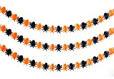Set of 5 Halloween Paper Garland Decorations Halloween Banners (Spider)