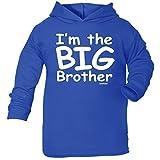 123t Baby I'M THE BIG BRUDER DESIGN BAUMWOLLE KAPUZENPULLI T-SHIRT T-Shirt - Königsblau, baby jungen, 92-98