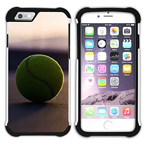 Graphic4You Tennis Ball Sport Hart + Weiche Kratzfeste Hülle Case Schale Tasche Schutzhülle für Apple iPhone 6 Plus / 6S Plus Design #2