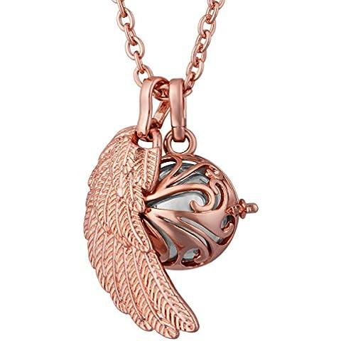 Eudora Harmony-Ciondolo in oro rosa, con medaglione pendente 88,90 cm (35