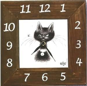 Horloge Murale Les Chats Par Dubout Chat La Mouche