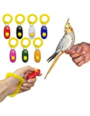 Sage Square Pet Training Clicker with Wrist Strap for Bird/Parrots/Cockatiel/Budgies/African Grey/Cockatoo (Random)
