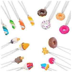 MJARTORIA Damen Mädchen Freundschaftsketten Donut Halskette Beste Freundinnen für immer Essen Schmuck (16/4 Stück)