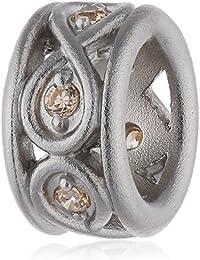 Endless 41353-3 - Abalorio de plata con circonita