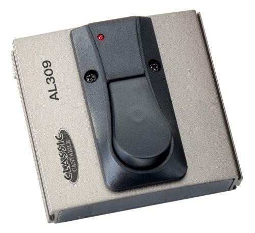 Classic Cantabile AL-309 Fußschalter (Verstärker Umschalter, Fußtaster, Sustain/Drive Pedal, Umschalter Polarität, rote LED, Klinke mono Anschluss,  94 x 88 x 50 mm)