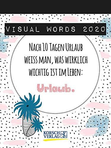 Visual Words 2020: TypoArt Tages-Abreisskalender