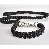 MHGAO Nylon dog leashes/dog large dog chain/rope , black , xl