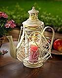 Laterne Kaffeekanne Shabby Style Kerzenhalter Kanne Design Windlicht Neu