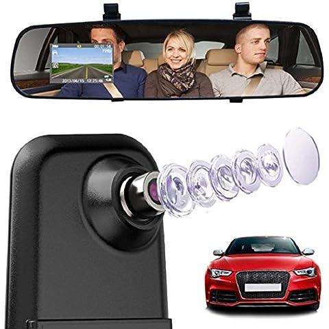 Tongshi para Nueva Versión 1080P HD Cámara de Vídeo Grabadora de Coche DVR con la tarjeta de 16GB TF/32GB TF, Grabadora de Vídeo para Consola de Automóvil,Visión Nocturna, Grabación Automática en Ciclo de Bucle, Detección de Movimiento, Abandono de Carril, Monitorización para
