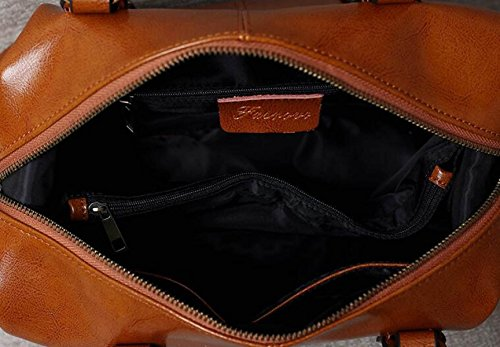 Borsa Shopping Bag In Pelle A Olio Retro Cerata Donna Retrò Borsa A Tracolla Da Donna Borsa A Mano Messenger Bag Brown