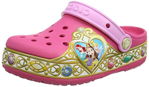 Crocs Crocband Disney Princess Lights Clog Kids, Mädchen Clogs, Pink (Vibrant Pink), 22-23 EU Crocs Kids Disney