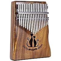 RONDA Kalimba Thumb Piano 17 Key Kalimba Solid Acacia Thumb Finger para Piano Mbira Cat with Bag Gift