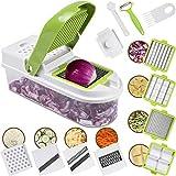 Vegetable Chopper Easy Veg Cutter Mandolin Slicer Julienne Food Chopper + Peeler