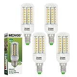 MENGS® 4 Stück E14 LED lampe 7W AC 220-240V Kaltweiß 6500K 56x5730 SMD