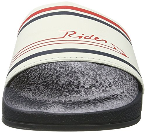 Rider Rider R86 Ad, Sandales  Bout ouvert mixte adulte Mehrfarbig (blue/white)