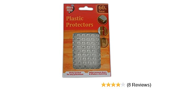 21MM PLASTIC PROTECTORS//DOTS PADS ADHESIVE CABINET BUFFERS DRAWER CUPBOARD DOOR