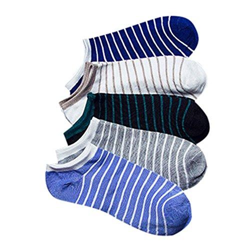 Coface 5 Coppia invisibile Uomini fannullone barca No Mostra antiscivolo Liner Low Cut Socks