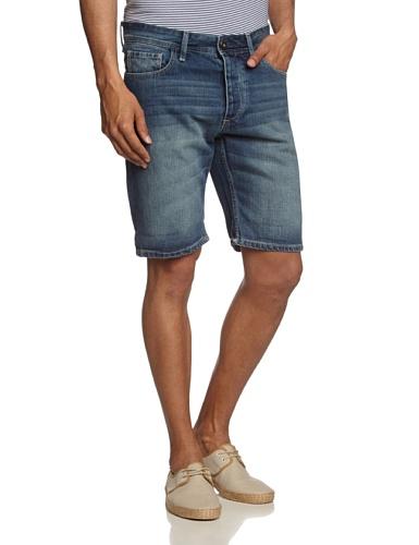 SELECTED HOMME Herren Shorts Cash 937 denim I Blau (Medium Blue Denim)