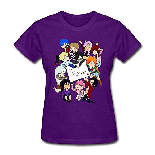 Q-QQ9 Damen T-Shirt Gr. L, violett (Games Custome Hunger)