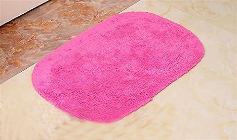 GMM® Tapis De Tapis Simple Maison Moderne Lavable En Machine Coton Porte De Chambre Salle De Bain Salle De Bain Tapis D'Eau Rose