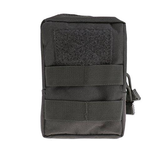 Taktische / Militärische Hüfttasche, stark und praktisch, geeignet für Jogging, Fitness, Radfahren, Bergsteigen, Wandern usw. Outdoor Aktivitäten, Sporttasche - Schwarz