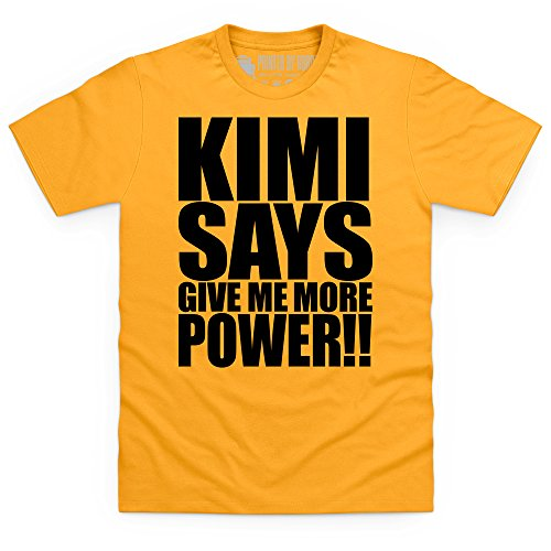Kimi Says More Power T-Shirt, Herren Gelb