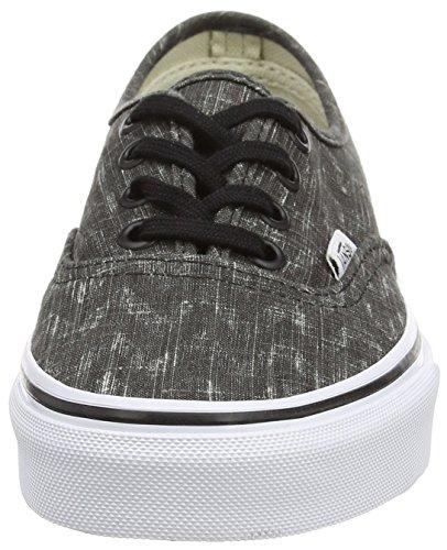 Vans - Authentic - Baskets Basses - Mixte Adulte Noir (Denim Chevron - Black/True White)