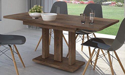 36 Küchentisch (Esstisch Nussbaum ausziehbar 130cm - 180cm erweiterbar Küchentisch Auszugtisch Säulentisch)