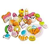 WOWCOS Random 10/20pcs Medium Mini Soft Squishy Bread Toys Key Phone Chain (20pcs)