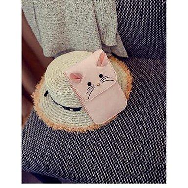 SUNNY KEY-Borsa a tracolla @ Donna Borsa a tracolla PU (Poliuretano) Per tutte le stagioni Casual A scatto Rosa Grigio chiaro , blushing pink blushing pink