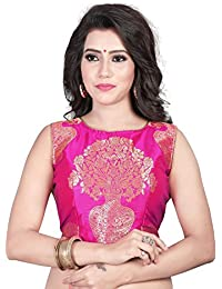 db07a4904edac Kuvarba Fashion Women s Jacquard Stitched readymade free size Saree Blouse