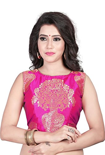 Kuvarba Fashion Women'S Saree Blouse (65.Pink_Pink_Free Size)