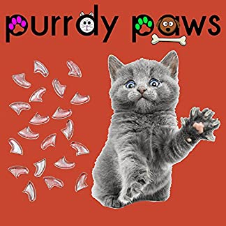 100-Pack Soft Nail Caps For Cat Claws CLEAR * Purrdy Paws Brand 100-Pack Soft Nail Caps For Cat Claws CLEAR * Purrdy Paws Brand 51qs8RISK0L