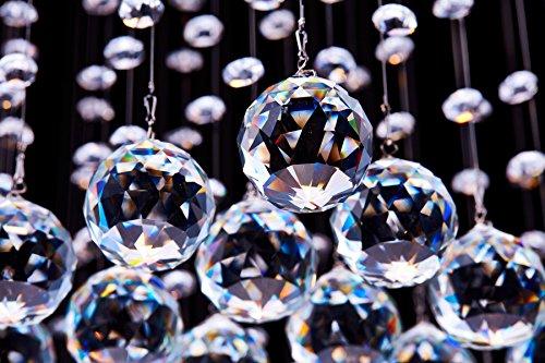 Saint Mossi ® Modern Unterputzmontage Regen Fallen Kronleuchter Kristall Leuchter Viereck entworfen Deckenleuchte 4*GU10 Base Birne Erforderlich - 3