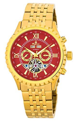 Burgmeister Armbanduhr für Herren mit Analog Anzeige, Automatik-Uhr mit Edelstahlarmband - Wasserdichte Herrenuhr mit zeitlosem, schickem Design - klassische Uhr für Männer - BM327-242 Denver