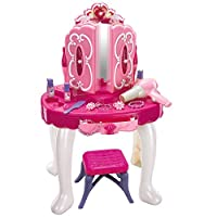 Crystals Kids Girls Vanity Fun Toy Princess Glamour Dressing Table With Light and Sound Xmas Gift by