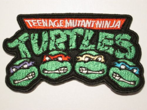 TMNT Aufnäher 9cm Teenage Mutant Ninja Turtles embroidered Patch (Michaelangelo Ninja Mutant Turtles Teenage)